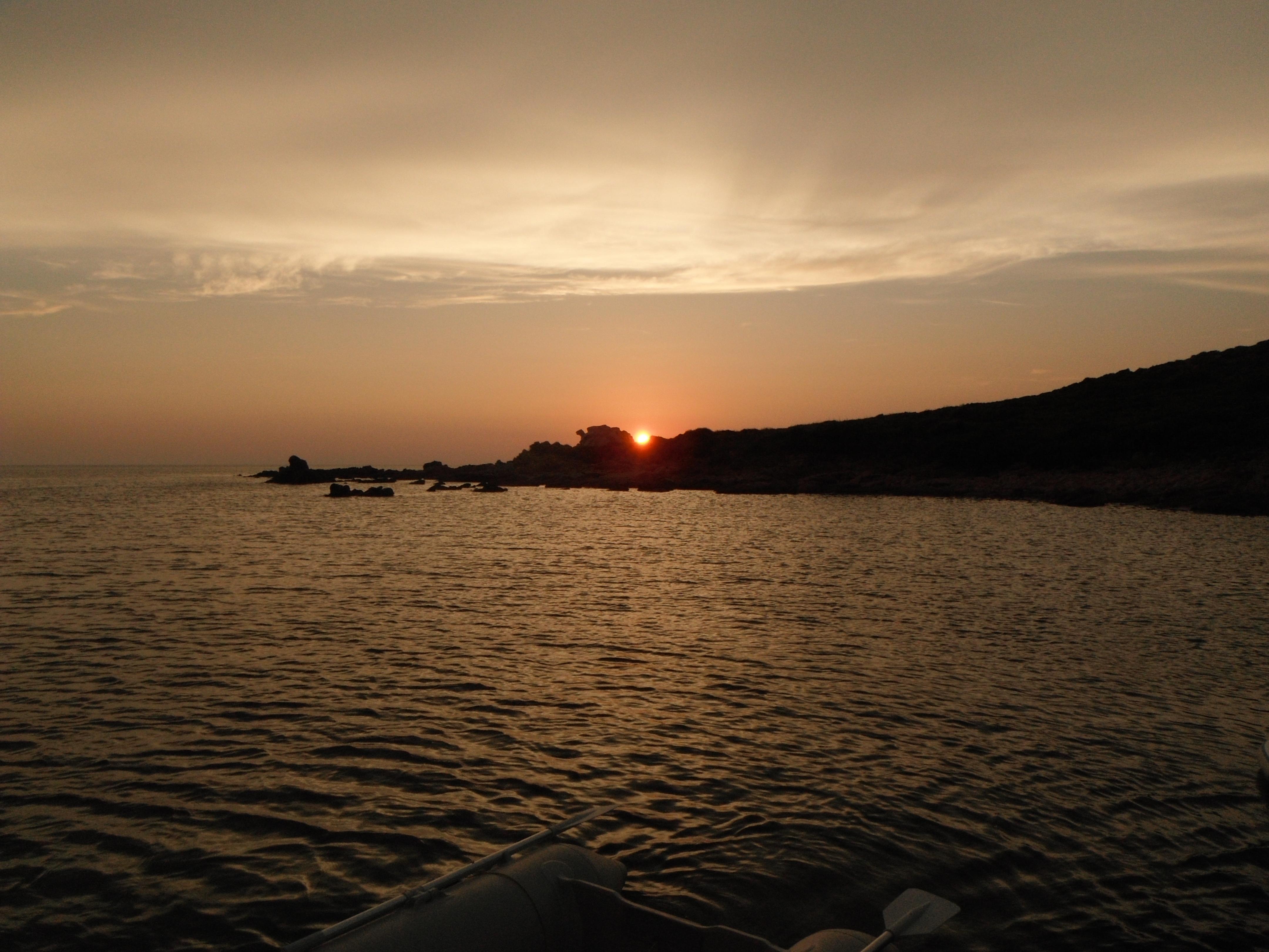 Coucher soleil sur Conca